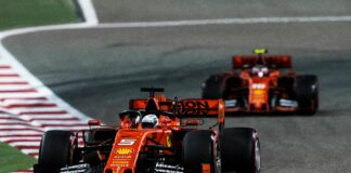 Vettel, Leclerc, Ferrari, Bahrein racingline, racinglinehu, racingline.hu