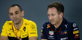Christian Horner, Cyril Abiteboul, Red Bull, Renault, racingline, racinglinehu, racingline.hu