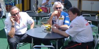 Mansour Ojjeh, Flavio Briatore, Norbert Haug, racingline.hu