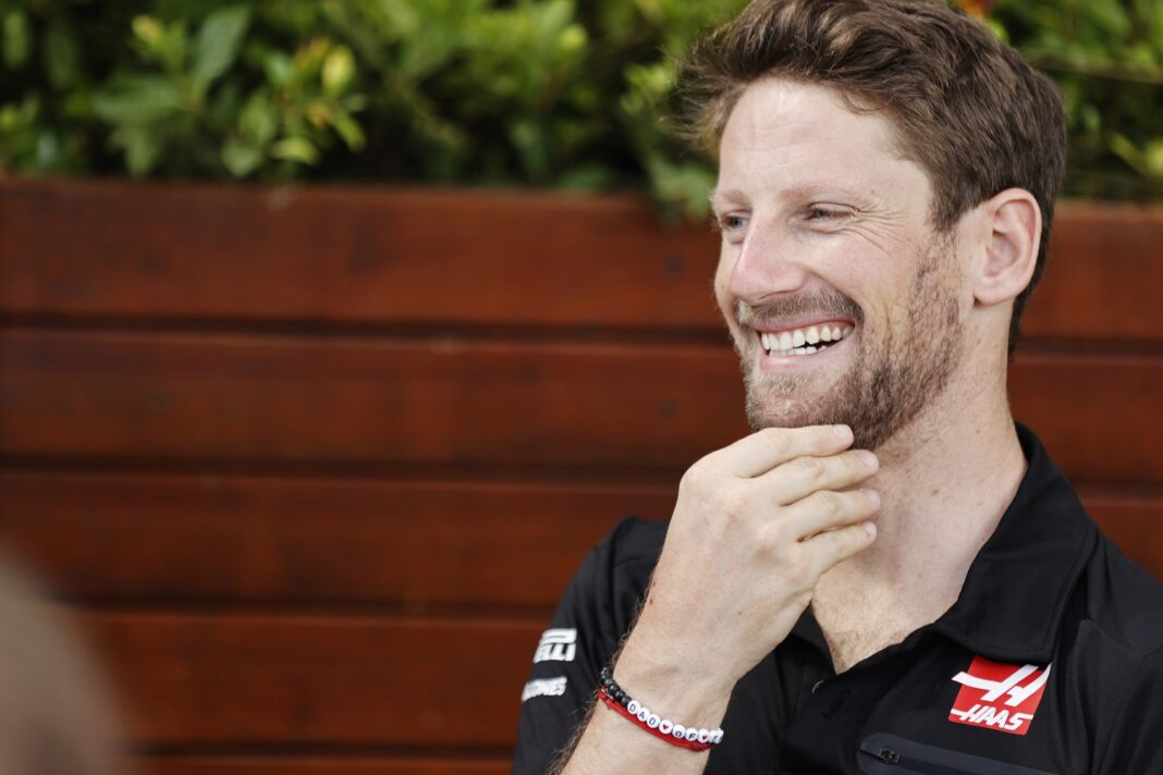 Romain Grosjean, Haas, racingline