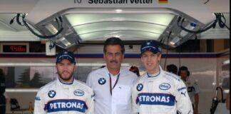 Heidfeld, Vettel, racingline