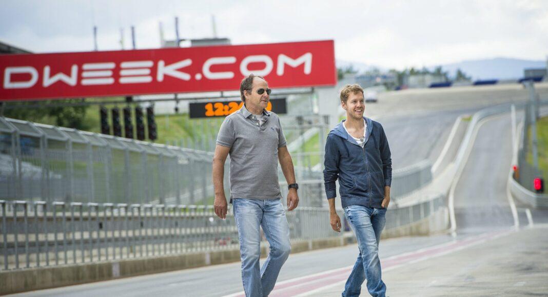 Sebastian Vettel, Gerhard Berger, racingline.hu