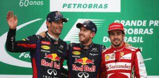 Vettel, Webber & Alonso, Interlagos, 2013, racingline.hu