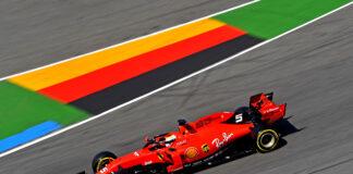Hockenheim, Sebastian Vettel, Ferrari, racingline