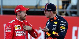 Sebastian Vettel, Max Verstappen, racingline
