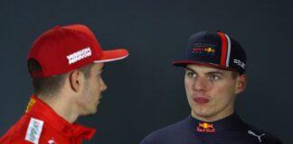 Charles Leclerc, Max Verstappen, racingline