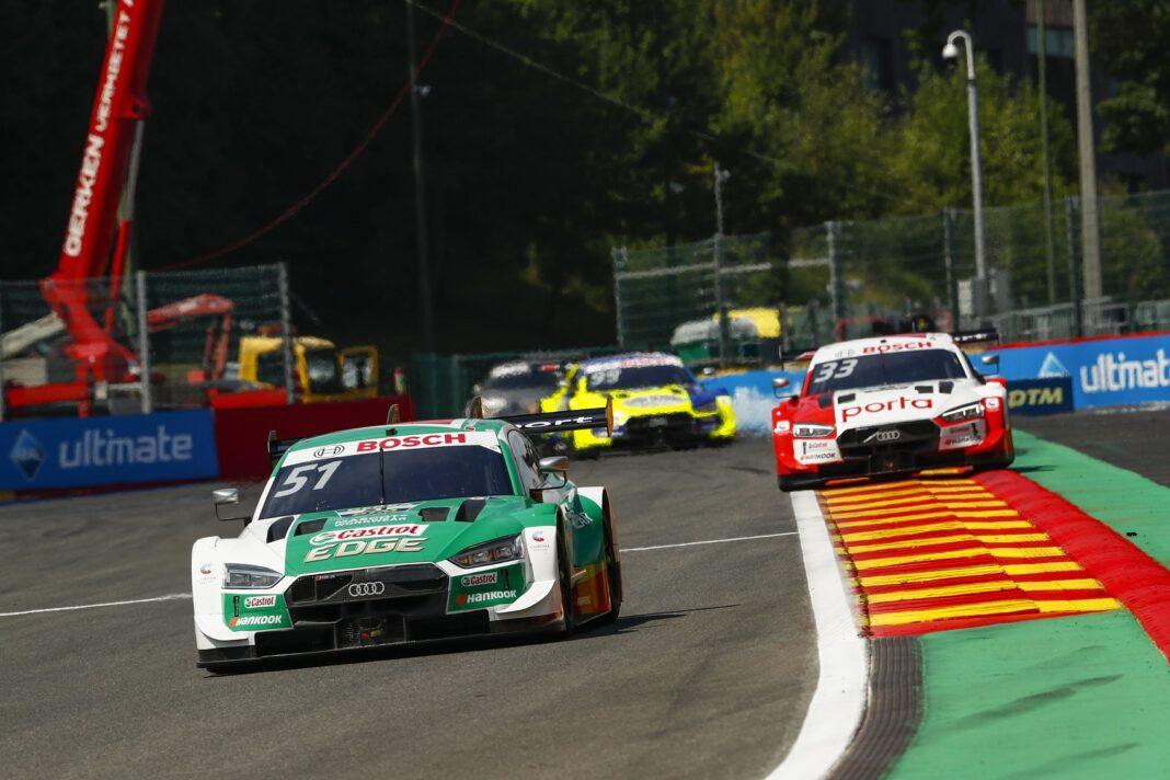 Nico Müller, René Rast & Mike Rockenfeller, Spa-Francorchamps, DTM, 2020, racingline.hu