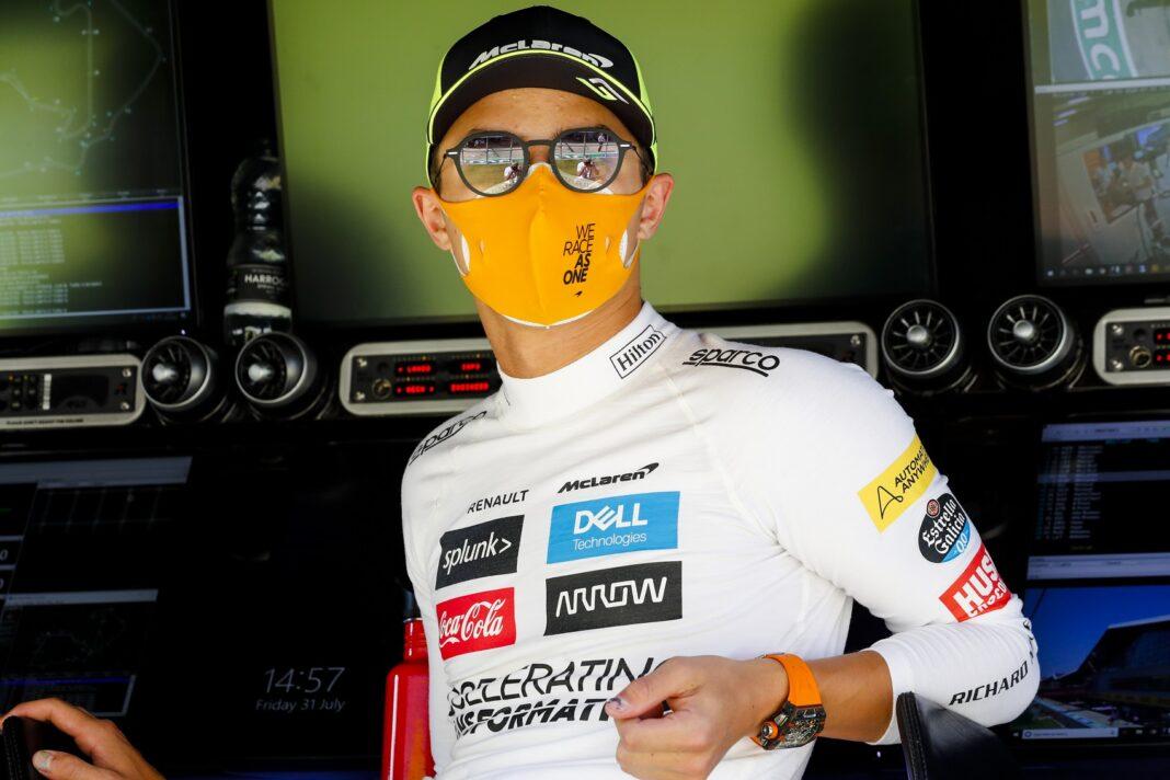 Lando Norris, McLaren, racingline
