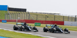 Valtteri Bottas, Lewis Hamilton, Mercedes, racingline