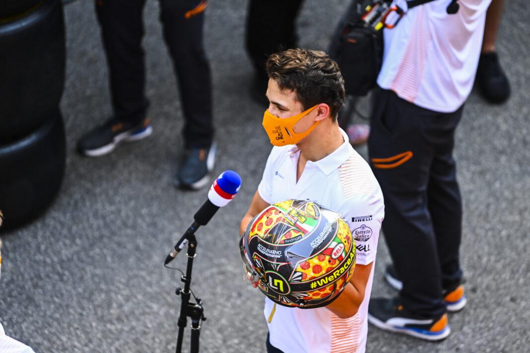 Lando Norris McLaren, racingline