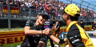 George Russell & Daniel Ricciardo, racingline.hu