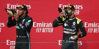 Lewis Hamilton, Daniel Ricciardo, Mercedes, Renault, shoey,racingline