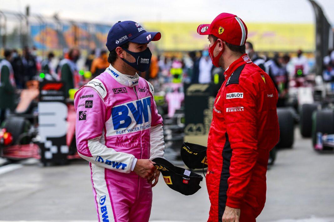 Sergio Pérez, Sebastian Vettel, Racing Point, Ferrari, racingline