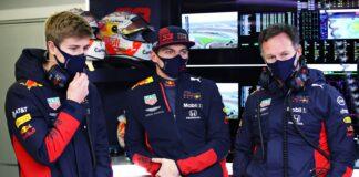 Jüri Vips, Max Verstappen & Christian Horner, Red Bull, racingline.hu