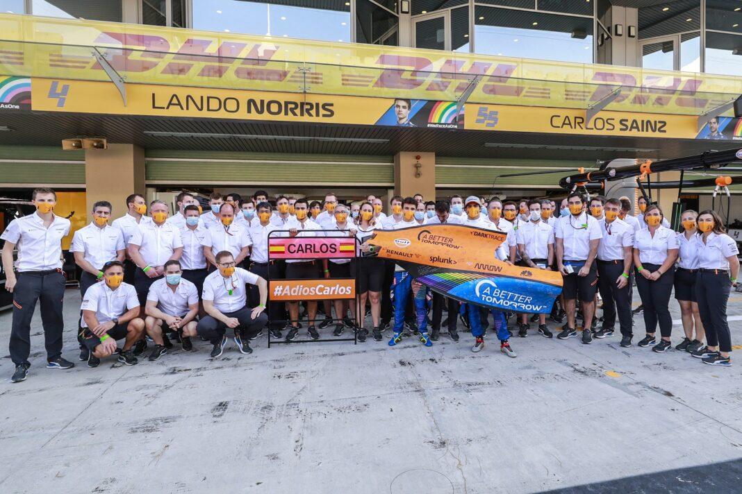 Carlos Sainz, Lando Norris, Zak Brown, Andreas Seidl, McLaren, racingline
