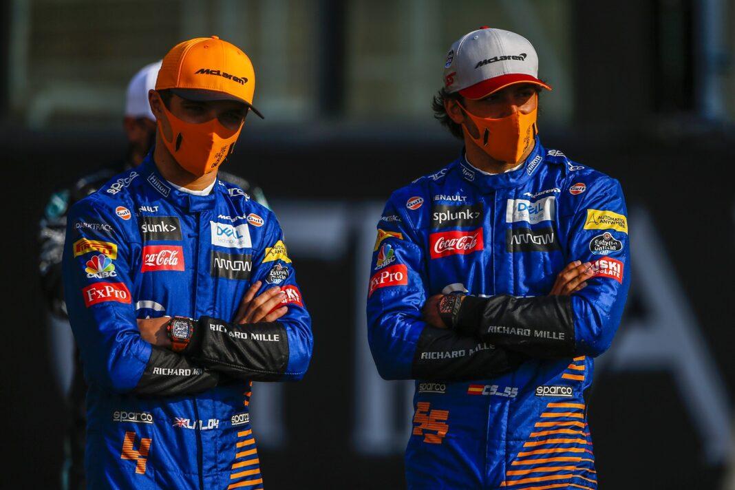 Lando Norris, Carlos Sainz, McLaren, racingline