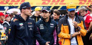 Max Verstappen, Sergio Perez, Carlos Sainz, Mateschitz