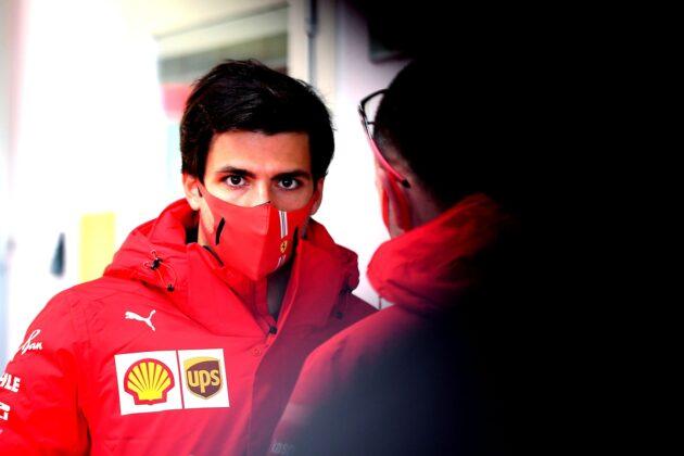 Carlos Sainz, Ferrari, racingline