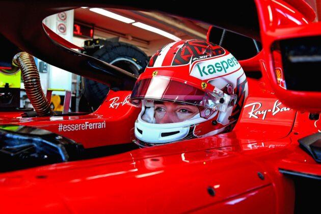 Charles Leclerc, Ferrari, racingline