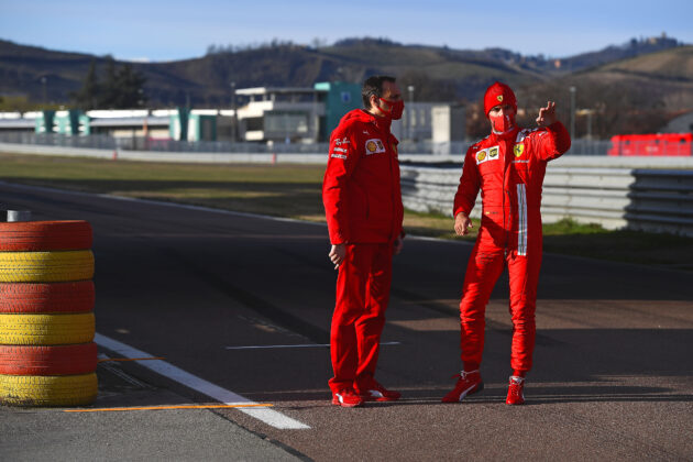 Sainz, Ferrari, racingline