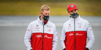 Mick Schumacher, Antonio Giovinazzi, Alfa Romeo, Eifel Nagydíj, Nürburgring, racingline.hu