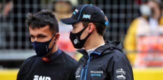 Alex Albon, George Russell, Red Bull, Williams, racingline, Virtuális Nagydíj