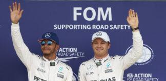 Rosberg, Hamilton, racingline