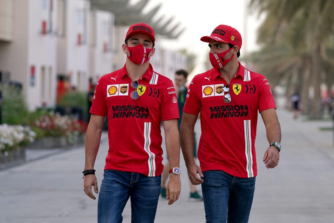 Charles Leclerc, Carlos Sainz, racingline