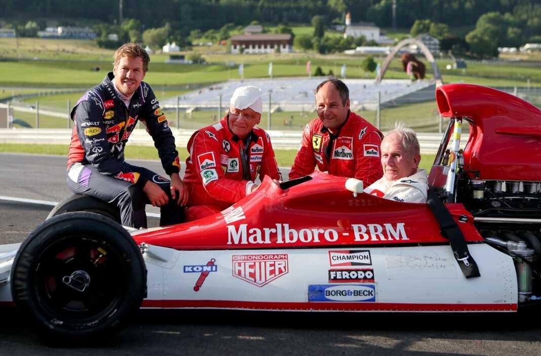 Sebastian Vettel, Niki Lauda, Gerhard Berger and Helmut Marko