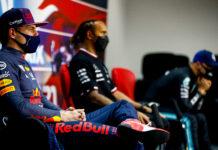 Verstappen, Hamilton, racingline