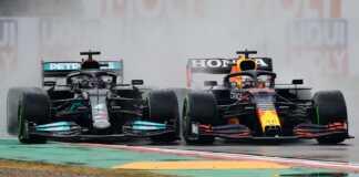 F1, eső, Lewis Hamilton, Max Verstappen, Red Bull, Mercedes