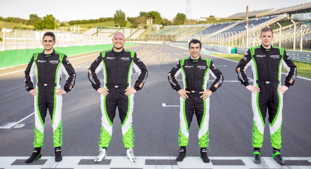 Mikel Azcona, Rob Huff, Jordi Gené & Boldizs Bence, Zengő Motorsport, racingline.hu