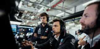 George Russell, Toto Wolff, Mercedes, racingline.hu