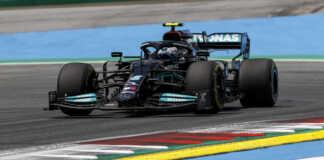 Bottas, racingline, Mercedes