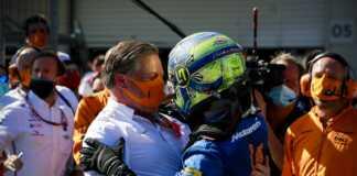 Zak Brown, Lando Norris, McLaren