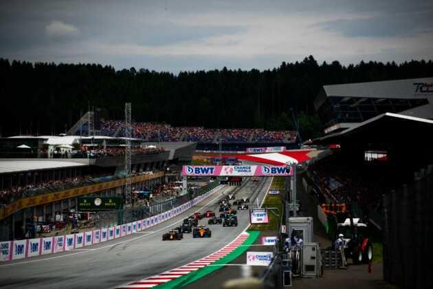 rajt, start, Osztrák Nagydíj, Ausztria, Red Bull Ring, mezőny, forma-1
