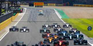 Lewis Hamilton, Max Verstappen, Charles Leclerc, Valtteri Bottas, Lando Norris