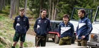 Max Verstappen, Sergio Perez, Yuki Tsunoda, Pierre Gasly, red bull
