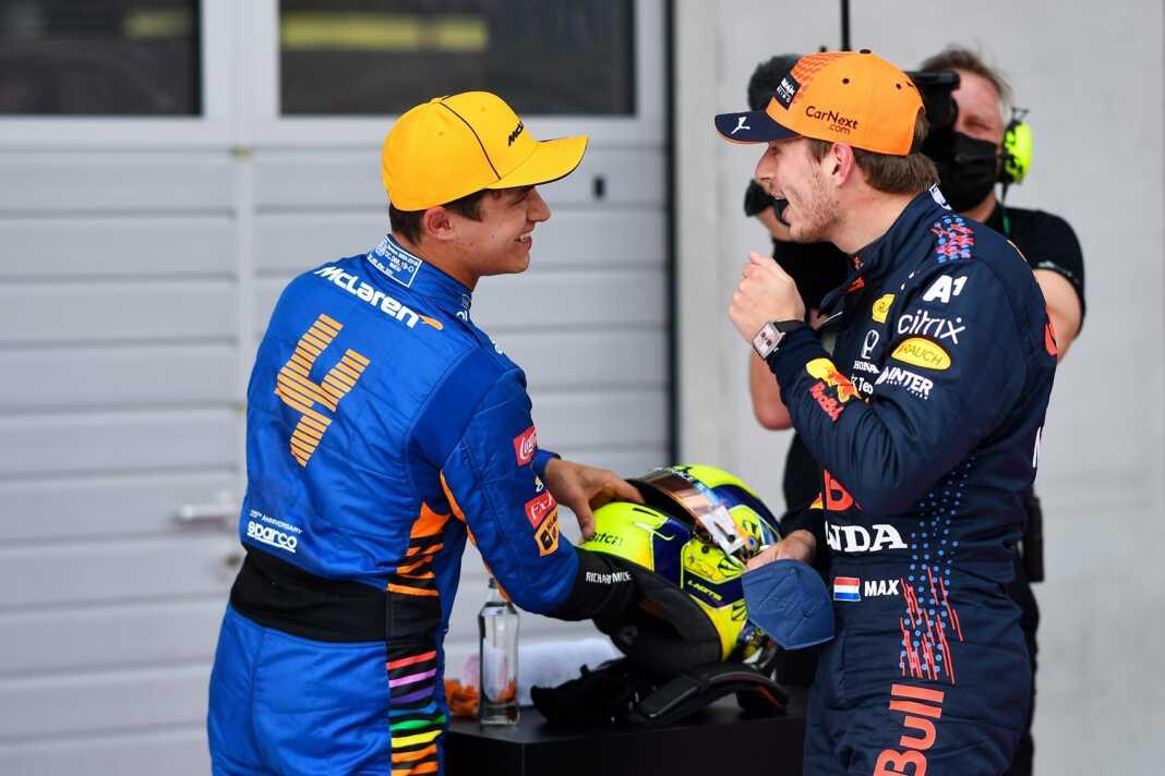 Lando Norris, Max Verstappen, McLaren, Red Bull