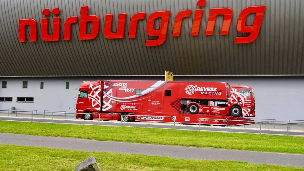 nürburgring, révész racing, áradás
