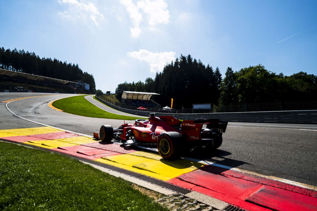 Ferrari, Spa, racingline