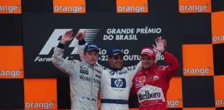 Juan Pablo Montoya, Kimi Räikkönen, Rubens Barrichello