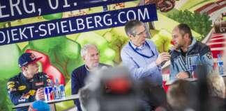 Max Verstappen, Dr. Helmut Marko, Gerhard Berger