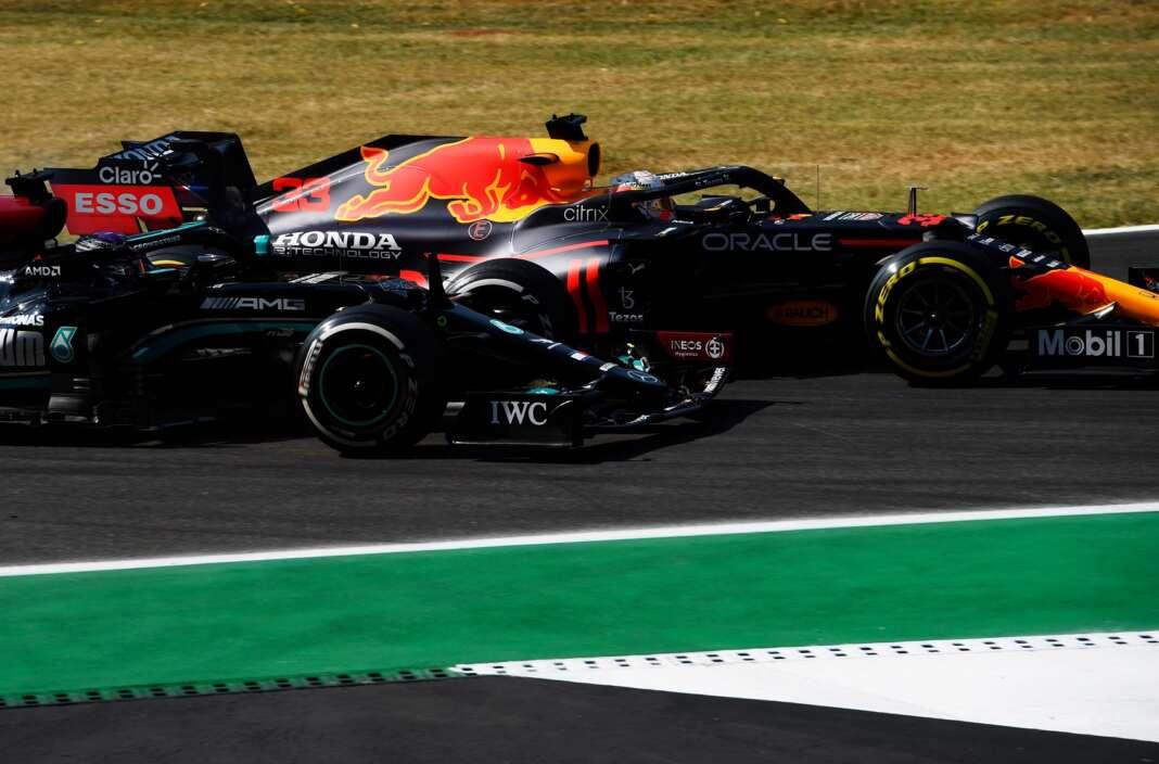 Lewis Hamilton, Max Verstappen, pontversenyek, kerékvető