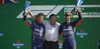 Lando Norris, Zak Brown, Daniel Ricciardo, McLaren