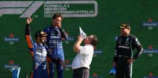 Daniel Ricciardo, Lando Norris, Zak Brown, Valtteri Bottas, nap versenyzője