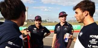 Yuki Tsunoda, Sergio Pérez, Pierre Gasly, Max Verstappen, AlphaTauri, Red Bull, Honda