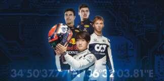 Max Verstappen Sergio Pérez, Pierre Gasly, Yuki Tsunoda, Red Bulll, Gran Turismo